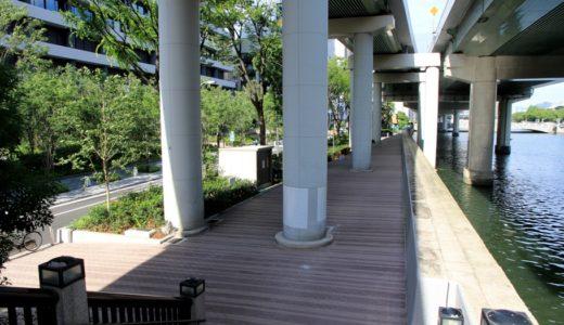 新ダイビルの南側、阪神高速の高架下にある堂島公園の改修工事が完了!