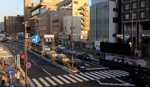 京都駅南口駅前広場整備事業(八条通)の状況 17.02 美装化が完了した八条通りの様子