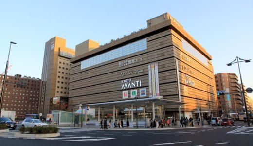 京都駅南口駅前広場整備事業(八条通)の状況 17.02 アバンティ前の観光バス乗降場、サンクンガーデン付近の様子