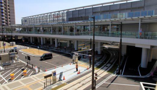 新駅ビル直下まで延伸され新しくなった万葉線高岡駅