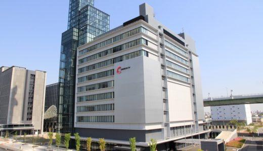 建物が竣工し放送機能の全面移転が完了した「中京テレビ放送新社屋」の状況 17.04