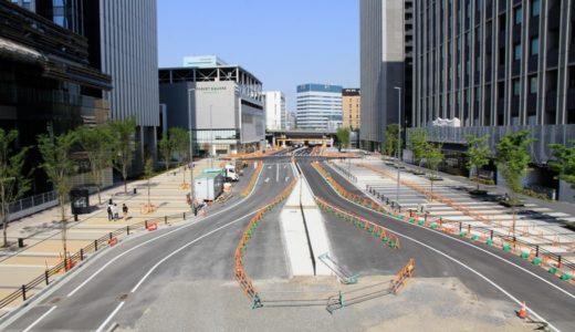 ささしまライブ地区を貫く幹線道路、椿町線と笹島線の建設状況 17.04