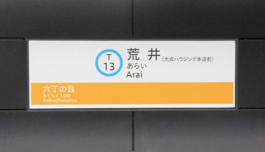 仙台市地下鉄 東西線全駅レポート~T13:荒井駅