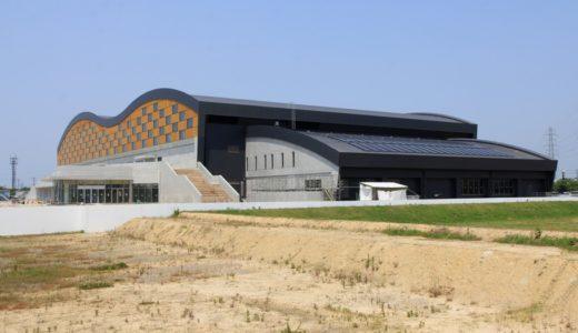 「金沢プール」城北市民運動公園内で建設中の屋内プールの建設状況 16.05