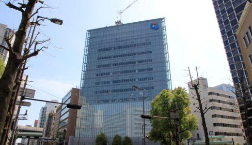 大阪商工信用金庫新本店ビルの建設状況 17.04