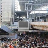 JR大阪駅御堂筋口の横断歩道側の屋上に大型のサイネージモニタ(街頭ビジョン)が登場!