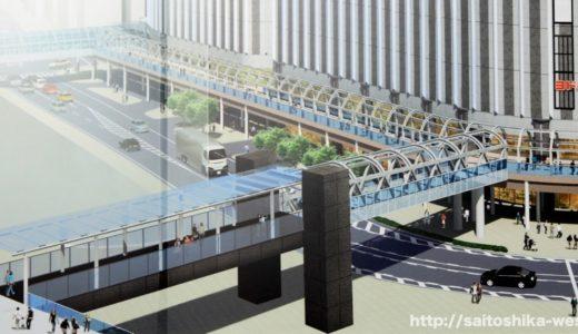 ヨドバシ梅田とグランフロント大阪を接続する「Bデッキ」の建設状況 17.08