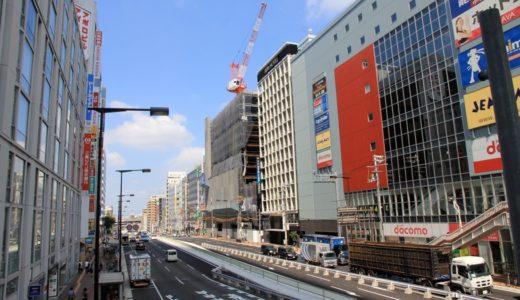 天王寺駅前の東西軸ー尼崎平野線工事の状況 16.08