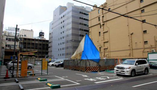高麗橋野村ビル西側の2つの駐車場で同時にボーリング調査が行われる。同地区の一体的な開発が行われる?