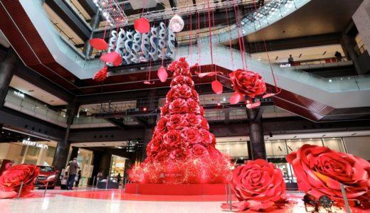 グランフロント大阪に真っ赤な薔薇のツリーが登場!『GRAND WISH CHRISTMAS 2017』 が開催中!