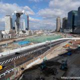 梅北2期エリアの南端を東西に結んでいる「九条梅田線」の迂回路への移設が完了!