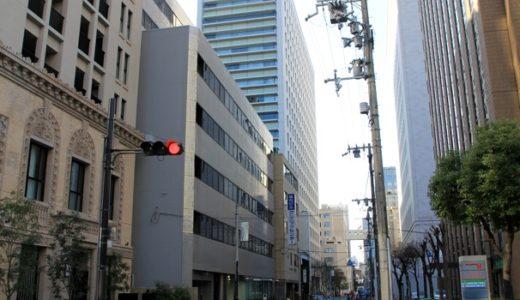 日生今橋ビル前で歩道拡張工事と電地下工事が進行中、施主はなんと日本生命!
