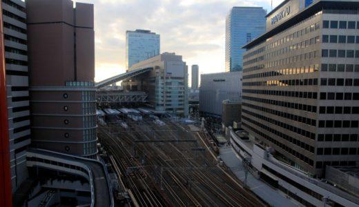 HEP FIVE観覧車から見た大阪都心部の眺め 15.01
