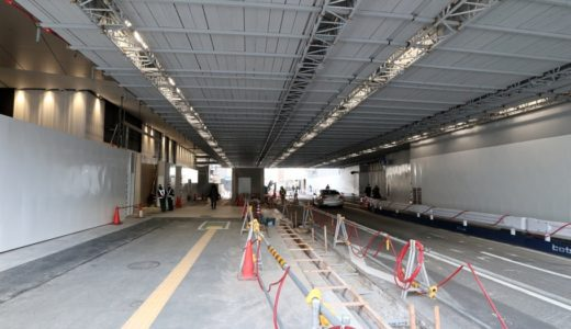 梅田1丁目1番地計画の「建物を貫通する市道」から「地下街」に抜ける新たな通路の供用が始まる!