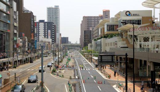 阿倍野筋拡幅工事計画 14.06