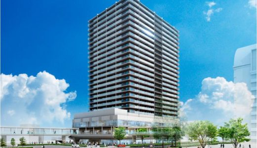 堺東駅前のジョルノビルの建て替え計画、堺東駅南地区第一種市街地再開発事業の完成予想パース