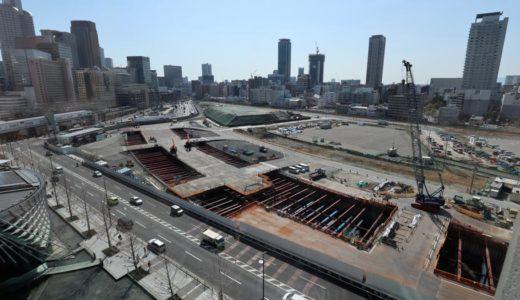 JR東海道線支線地下化・新駅設置工事(JR北梅田駅(仮称))の状況18.03