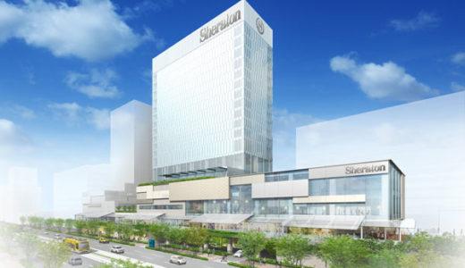 『シェラトン鹿児島ホテル』鹿児島市交通局跡地の再開発「キ・ラ・メ・キテラス」のホテルは地上19階、高さ約90m高層ビル!