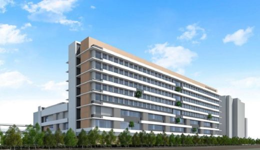 (仮称)吹田市新市民病院移転建替工事の状況 18.03