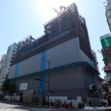 新歌舞伎座跡地に建設されるホテルロイヤルクラシック大阪(仮称)の状況 18.04