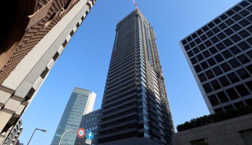 北浜ミッドタワーの建設状況 18.04