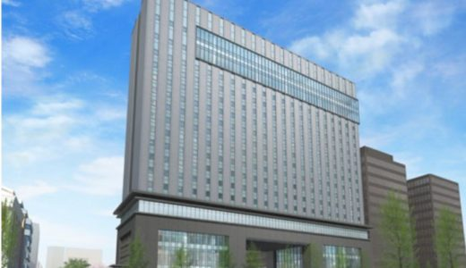(仮称)大阪エクセルホテル東急が入居する(仮称)積和不動産関西南御堂ビルの状況 18.04