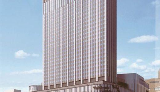 仮称)ヨドバシ梅田タワー計画の状況 18.06ー1機目のタワークレーンが姿を現す!