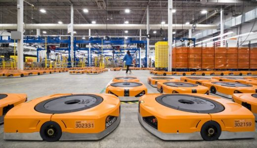 アマゾン茨木FC(フルフィルメントセンター)は倉庫用ロボット「Amazon Robotics」を採用したハイテク物流拠点!