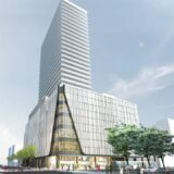南2西3南西地区市街地再開発事業(仮称)ライオンズタワーサッポロの建設状況 21.07【2023年4月竣工予定】