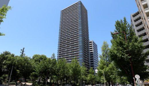 竣工したプレミストタワー大阪新町ローレルコートの状況18.06