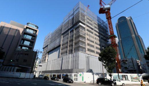 ブランズタワー梅田 North(旧ラマダホテル大阪跡の再開発)の建設状況 18.07