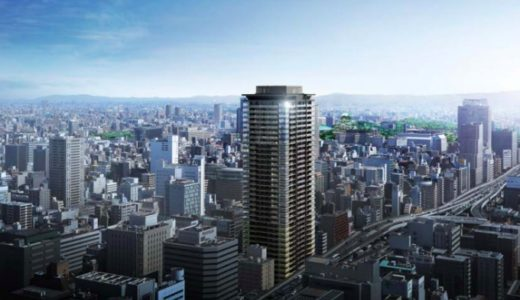 MJR堺筋本町タワー(ザ・船場タワープロジェクト)の建設状況 18.08