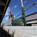 南海本線ー羽衣駅高架化工事の状況 18.08