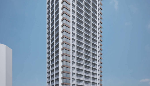 【2019年2月竣工予定】栄タワーヒルズの建設状況 18.09