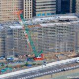 大阪ステーションシティ駐車場を増築する(仮称)大阪駅新北ビル別棟駐車場の状況 18.09
