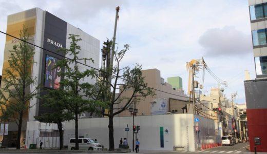 (仮称)大阪Mプロジェクト「ルイ・ヴィトン」が心斎橋筋2丁目の御堂筋沿いに建設予定の複合ビル計画の状況 18.09