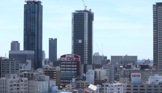グランドメゾン新梅田タワーの建設状況 18.08