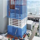 からくさホテルグランデ新大阪タワーはShimz Smart Siteを適用し一部をロボットが施工する最新工法の実験場!