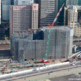 大阪ステーションシティ駐車場を増築する(仮称)大阪駅新北ビル別棟駐車場の状況 18.10