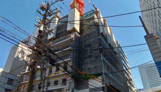【2019年10月オープン】ホテルWBF新大阪スカイタワーの建設状況 18.10