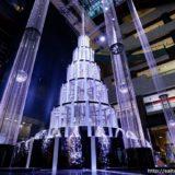 スワロフスキーのクリスタル約2.5万個をちりばめたグランフロント大阪のクリスマスツリー「Sparkling Rayスパークリングレイ」が登場