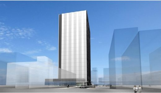 NTT Com「大阪第6データセンター」新日本橋ビル(仮称)新築工事の状況 18.12