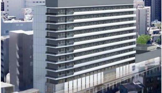 ホテル阪神アネックス大阪ー(仮称)阪神NK共同ビルの建設状況 18.11