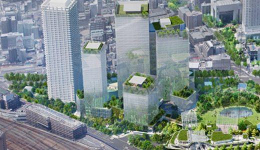 【2024年夏頃街開き】うめきた2期地区の南東側から見た完成予想パース