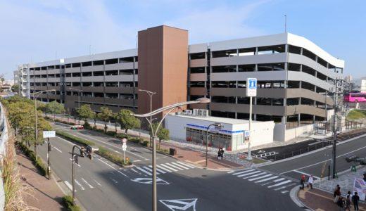 新日鉄興和不動産、大阪市此花区立体駐車場計画(桜島第3駐車場)の建設状況 18.11