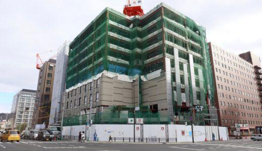 【2019年05月竣工予定】(仮称)ダイワロイネットホテル京都八条東口PJ新築工事の建設状況 18.12
