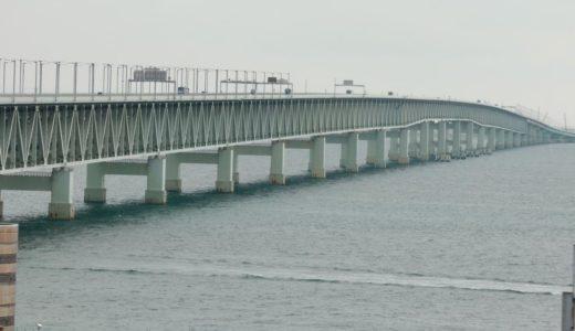 関空連絡橋の対面通行が3月に解消見通し。2月12日、13日の夜間に修復した橋桁を架設!