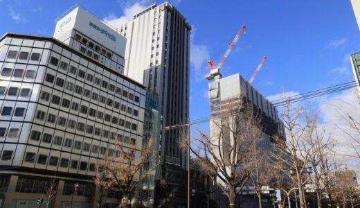 【2019年02月竣工】ザ・ビー 大阪 御堂筋の建設状況 18.12