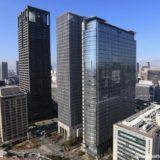 アパホテル 大阪肥後橋駅前の最上階から見た眺め