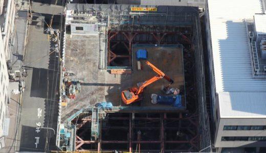 【2020年12月竣工】(仮称)ユニゾインエクスプレス大阪南本町の建設状況 18.12